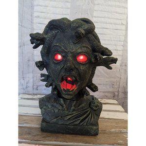 magic power Medusa bust head Halloween decor snake